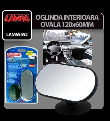 Oglinda interioara ovala cu ventuza 120x60 mm