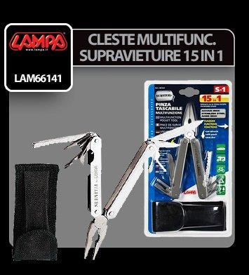 Cleste multifunctional kit supravietuire 15 in 1