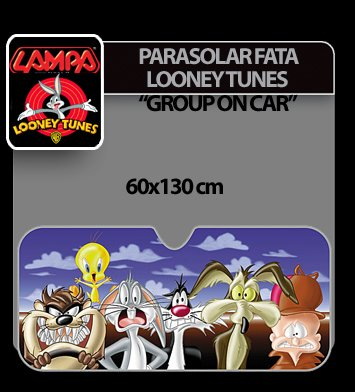 Parasolar fata Looney Tunes 1buc 60x130 cm - Group on car