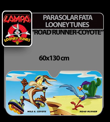 Parasolar fata Looney Tunes 1buc 60x130 cm - Road Runner, Coyote