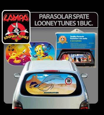 Parasolar spate cu ventuze Looney Tunes 1buc - Road Runner