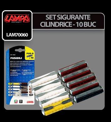 Set sigurante cilindrice 10 buc - Lampa