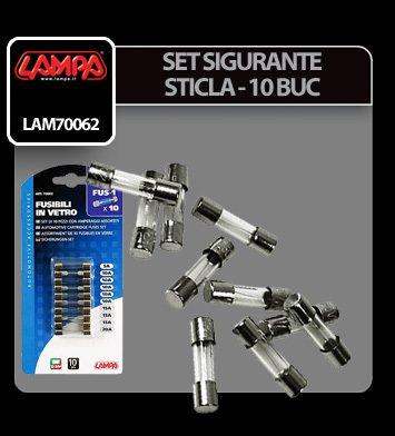 Set sigurante sticla 10 buc - Lampa