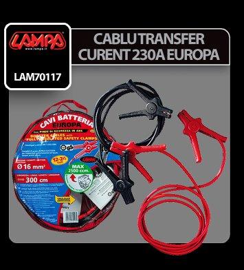 Cablu transfer curent Europa - 300 cm - 230 A - 16 mm2