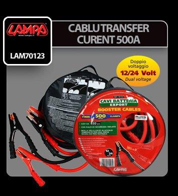 Cablu transfer curent 450 cm 12/24V 500A - Lampa