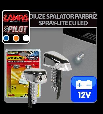 Diuze spalator parbriz Spray-Lite cu LED 12V - Albastru