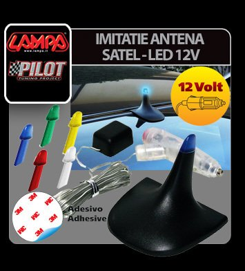Imitatie antena Satel - Led 12V 5 culori