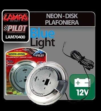 Neon-Disk plafoniera 12V - Albastru