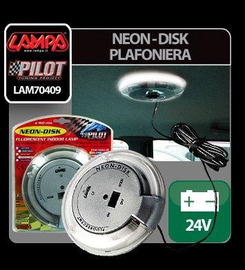 Neon-Disk plafoniera 24V - Alb