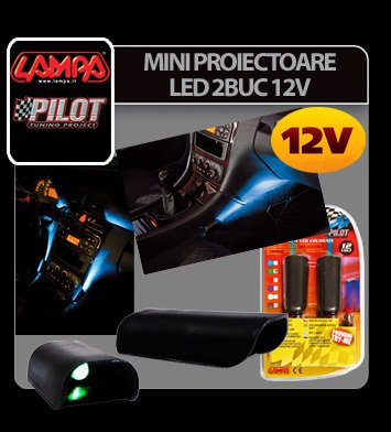 Mini proiectoare led 2buc 12V - Alb