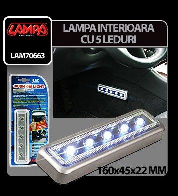 Lampa iluminat interior cu 5 LED-uri