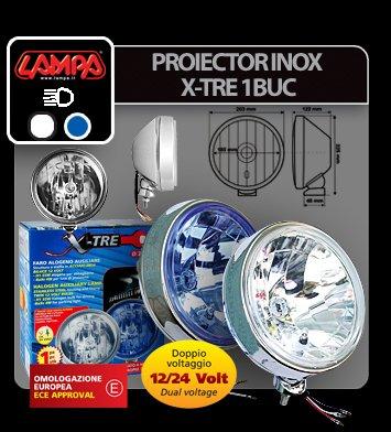 Proiector inox X-Tre 1buc - Alb