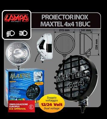 Proiector inox Maxtel 4x4 rotund 1buc - Alb - Profunzime