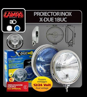 Proiector inox X-Due 1buc - Alb