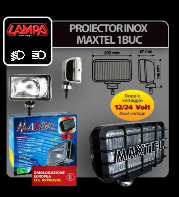 Proiector inox Maxtel dreptunghiular 1buc - Profunzime