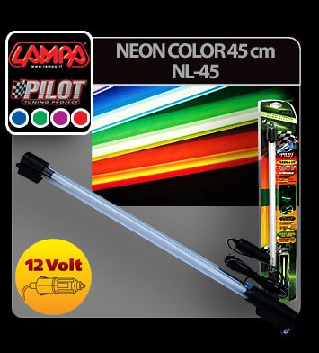 Neon color 45 cm 12V - Verde