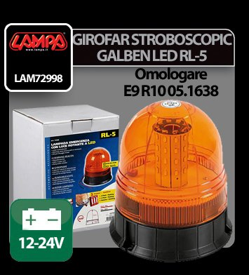Girofar stroboscopic galben Led 12/24V RL-5
