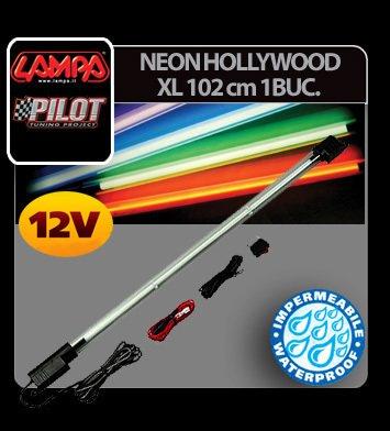 Neon Hollywood sub masina XL 102 cm 1 buc 12V - Violet