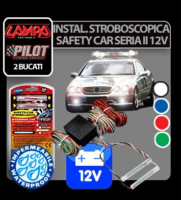 Instalatie stroboscopica Safety Car Seria II 12V - Rosu
