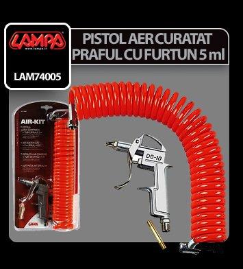 Pistol aer curatat praful cu furtun spiralat 5 ml