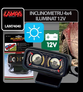 Inclinometru 4x4 iluminat 12V