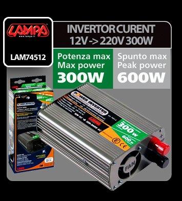Invertor curent de la 12V la 220V 300W