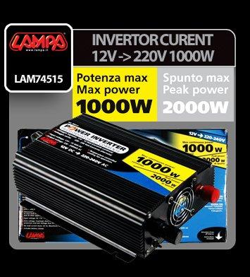 Invertor curent de la 12V la 220V 1000W