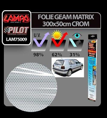 Folie geam Matrix 300x50 cm - Crom