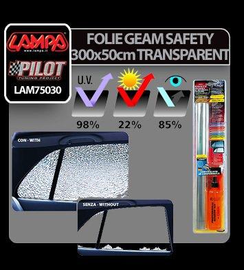 Folie geam Safety 300x50 cm - Transparent