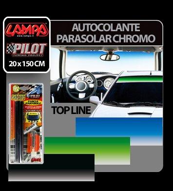 Autocolant parasolar Top Line Chromo 20 x 150 cm - Gri