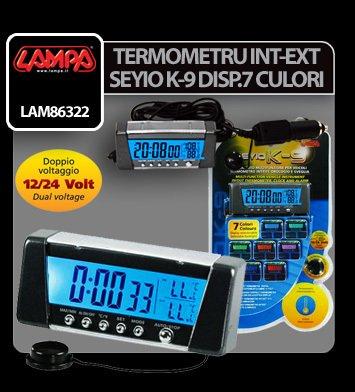 Termometru int-ext Seyio K-9 sapte culori