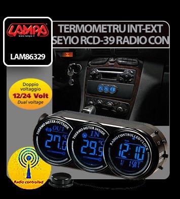 Termometru int-ext Seyio RCD-39 ceas radio control 12/24V