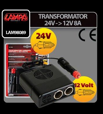 Transformator curent de la 24V la 12V 8A