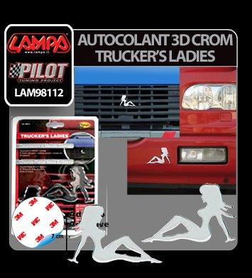 Autocolant 3D crom Trucker's Ladies