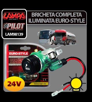 Bricheta completa iluminata Euro-Style 24V