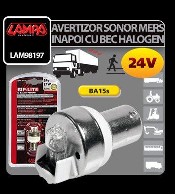 Avertizor sonor mers inapoi cu bec halogen 24V