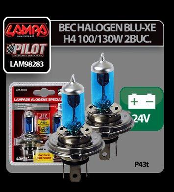 Bec halogen Blu-Xe  H4 100/130W P43t 24V 2buc