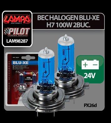 Bec halogen Blu-Xe  H7 100W PX26d 24V 2buc