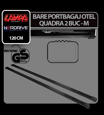 Bare portbagaj otel Quadra, 2 buc - M - 120 cm
