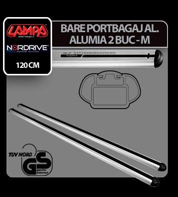 Bare portbagaj aluminiu Alumia, 2 buc - M - 120 cm