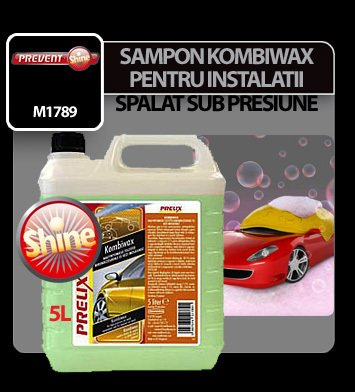 Sampon kombiwax pentru instalatii de spalat sub presiune Prelix 5 litri