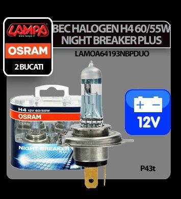 Bec Osram H4 60/55W P43t 12V Night Breaker Unlimited2buc