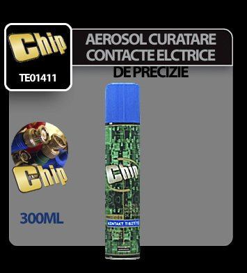 Aerosol pentru curatat contacte electrice de precizie Chip 300 ml