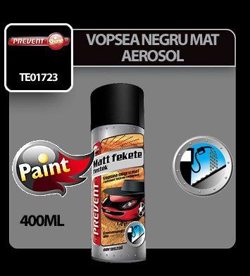 Vopsea negru mat rezistenta la combustibili aerosol Prevent 400 ml
