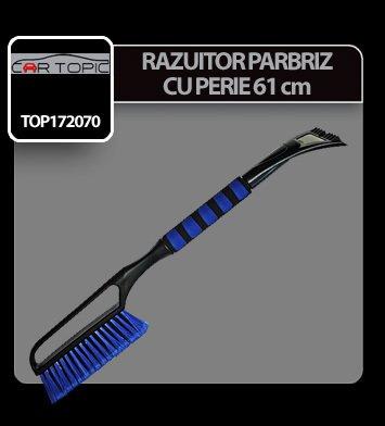 Razuitor parbriz cu perie 61 cm Cartopic - Negru/Albastru