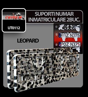Suporti numere inmatriculare Leopard - 2buc