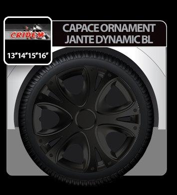 Capace ornament jante Dynamic BL 4buc - Negru - 13''
