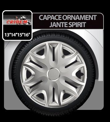 Capace ornament jante Spirit 4buc - Argintiu - 13''