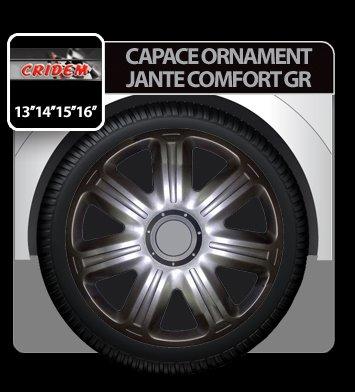 Capace ornament jante Comfort GR 4buc - Grafit - 14''