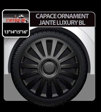 Capace ornament jante Luxury BL 4buc - Negru - 14''